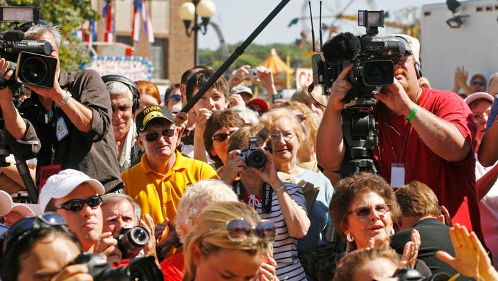 Candidate schedule and coverage of the Register's Political Soapbox at the Iowa State Fair