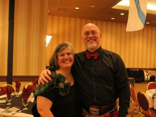 Michele and Mike Spence of Redding attend the Shasta Celtic Society's 20th annual Burn's Night Supper on Jan. 21 at the Red Lion Inn in Redding.