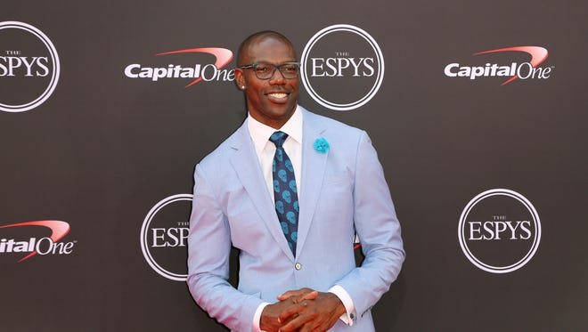 Former NFL player Terrell Owens arrives at the ESPY Awards at Microsoft Theater on Wednesday, July 18, 2018, in Los Angeles. (Photo by Willy Sanjuan/Invision/AP)