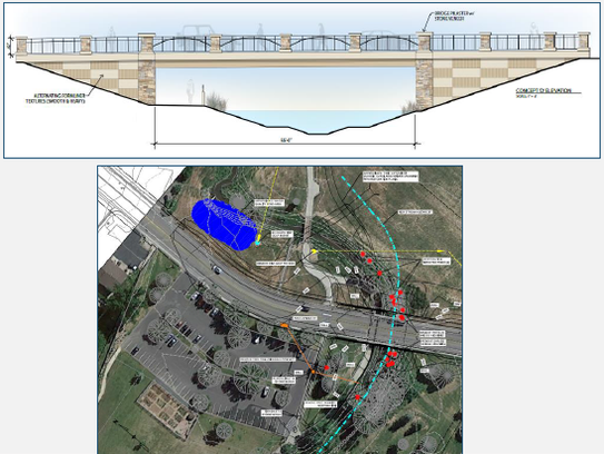 Plans for replacing the bridge at Riverside Avenue