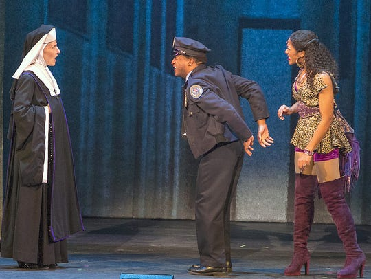 """Actors perform a scene from """"Sister Act"""" at the Clemens"""