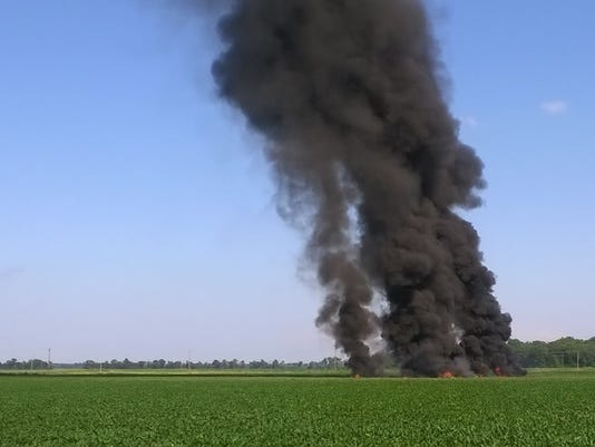 Military plane crash in Mississippi