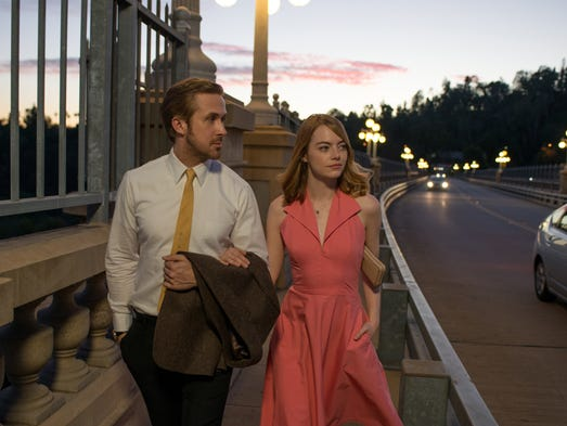"Ryan Gosling and Emma Stone, out on the town in ""La"