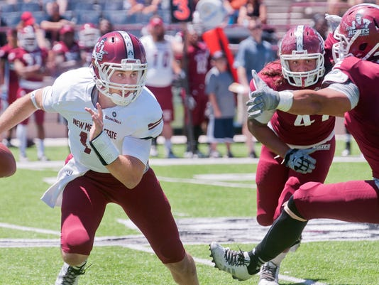 New Mexico State quarterback Tyler Rogers and the Aggies open the 2015 season on Saturday at the University of Florida.