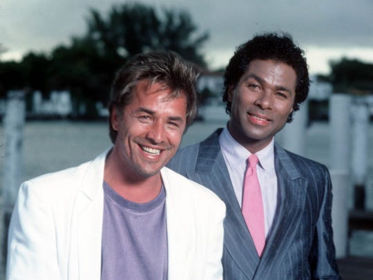 Don Johnson, left, and Philip Michael Thomas starred
