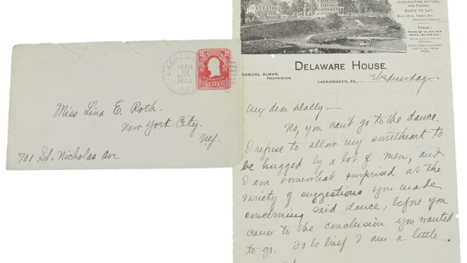 Estimated value: $4,000-$8,000. | Eleven courtship letters written by famed author Zane Gray with original envelopes.