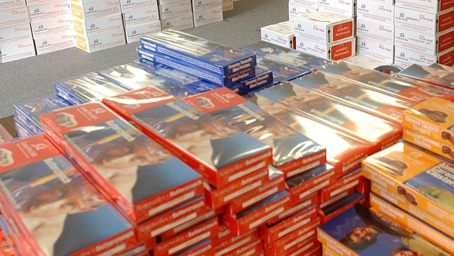 Camp Fire North Texas volunteers prepare for annual candy sales. The 2016 sale, from Jan. 21 through Valentine's Day, raises funds for Camp Fire programs year round. For information on purchasing boxes, or 15 box cases contact the Camp Fire office at 322-5209.