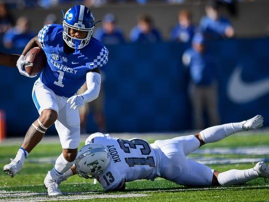 Kentucky Wildcats wide receiver Lynn Bowden Jr. (1)