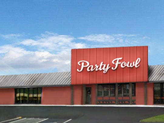 Party Fowl is located at 127 S.E. Broad St. in Murfreesboro.