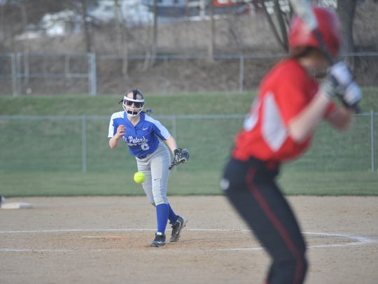 Ava Hatfield of St. Peter's struck out six batters Thursday evening.
