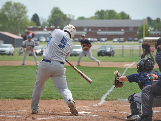 Wynford's Caleb Stone went 2-of-4 with a trio of RBIs