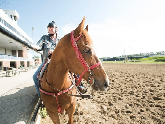 Ronnie Houghton is a former jockey turned outrider