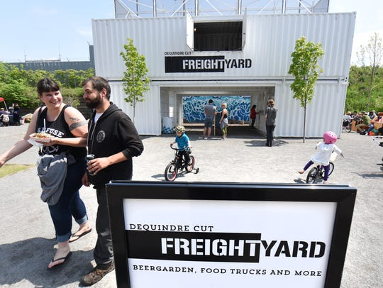 The Dequindre Cut Freight Yard opened on Saturday.