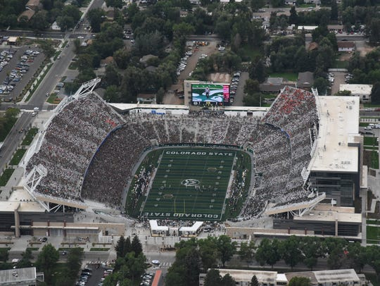 Canvas Stadium, home of the Colorado State Rams