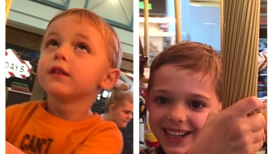 Owen and Miles Doyle showing off their new haircuts