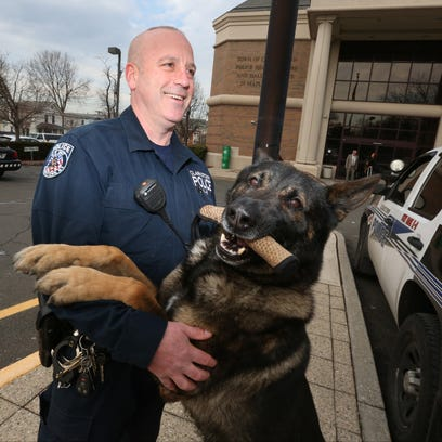 Police Officer Michael Keane and K9 Taz at the Clarkstown