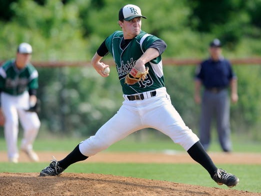 Parkside starter Kyle Skilling delivers against Poolesville in the first inning of a Class 2A state semifinal baseball game Tuesday, May 20, 2014 in Silver Spring. (Photo by Steve Ruark for The Daily Times)