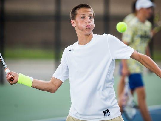 Delta's Alec Robillard faces off against Mason Waldron