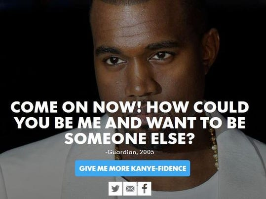 need a confidence boost try the outrageous kanye west