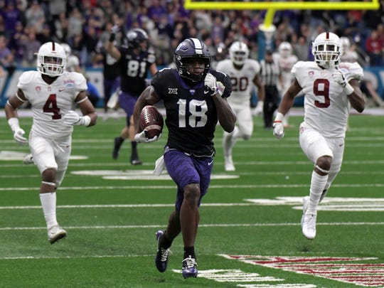 TCU wide receiver Jalen Reagor breaks free from the