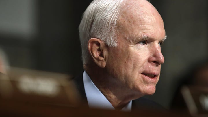 """The title of the documentary, """"John McCain: For Whom"""