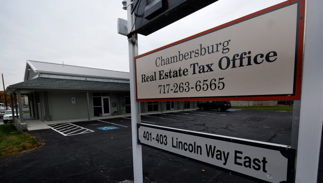 Chambersburg Real Estate Tax Office, photographed Nov. 9, 2015  is located at 401 Lincoln Way East, Chambersburg.