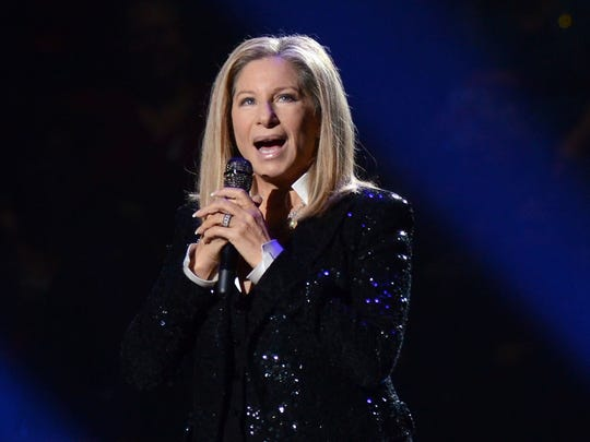 This Oct. 11, 2012 file photo shows singer Barbra Streisand performing at the Barclays Center in the Brooklyn borough of New York.