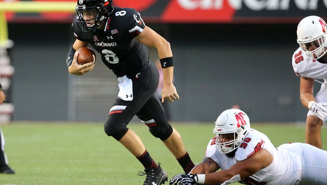 Quarterback Hayden Moore and the Cincinnati Bearcats will play Temple on Friday at 7 p.m. at UC, after beating Tulane last week.