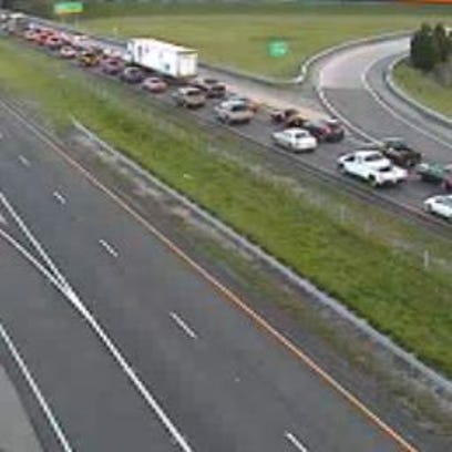 Backup on I-664 Northbound due to a death investigation