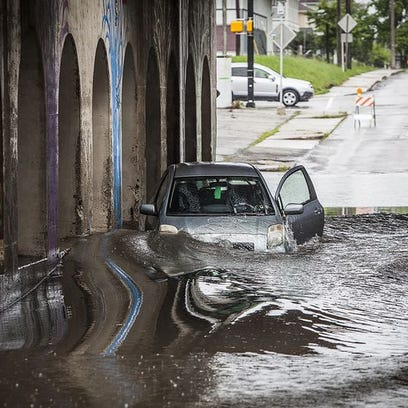 The Madison Street underpass - which floods routinely,