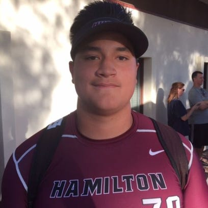 Hamilton senior offensive lineman has committed to