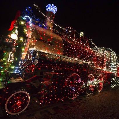 Luces de Navidad en el McCormick-Stillman Railroad