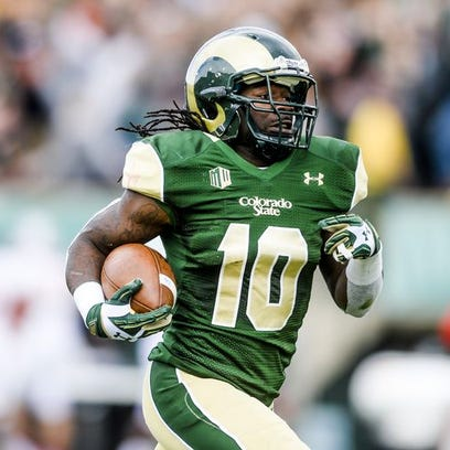 CSU football's Dee Hart runs in for a touchdown in