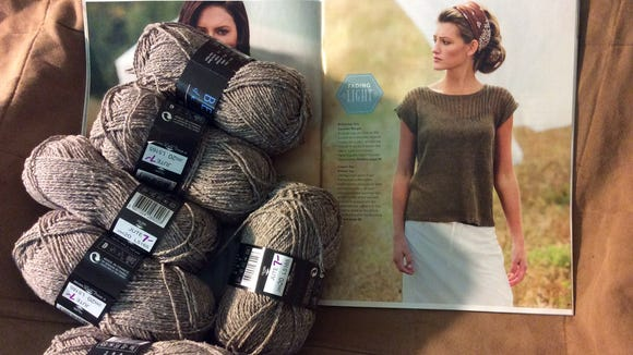This is the Linum Tee I'm making for Susan, my beautiful sister-in-law, along with the Bergere de France yarn I bought for it at Trillium Yarns, which is moving to Morristown.