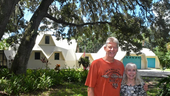 Terry and Ramona Schoonover built this dome home in Canaveral Groves.