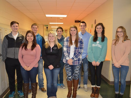 HCHS January students of the month