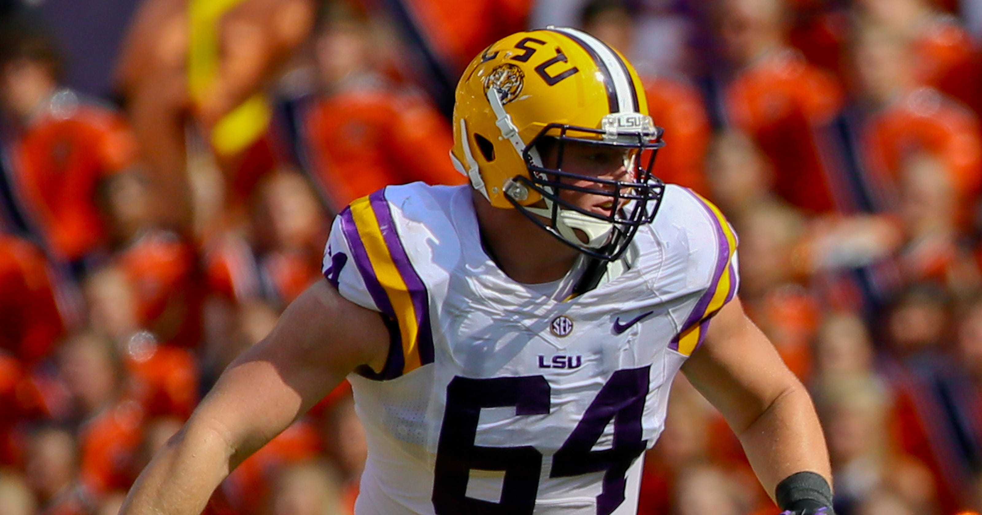810f99d65 Saints finally take another Tiger in Will Clapp  Pats take Etling