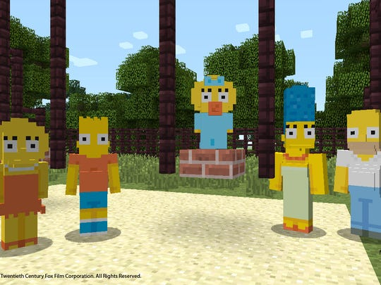 "The family Simpson, arriving in ""Minecraft"" on Xbox"