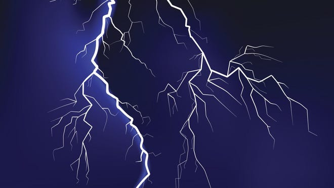 A file photo showing an illustration of lightning from a storm. Thunderstorms are expected to hit the Reno-Tahoe area with heavy rainfall, gusty winds, small hail and lightning.