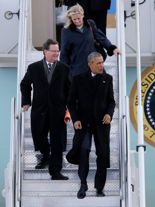 Barack Obama, Gary Peters, Debbie Dingell