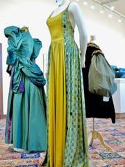 """Sarah Tonemah's """"Goddess Gown is one of her three hand-sewn"""