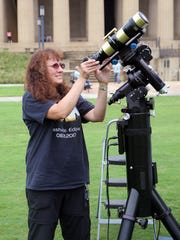 Theo Wellington, an astronomy enthusiast and president