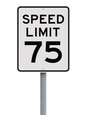 A bill boosting Michigan's speed limit to 75 miles per hour on about 600 miles of highways in rural areas of the state was passed last year.