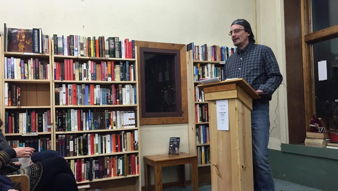 """At Cassiopeia Books, """"Survivors Said"""" author Matt Pavelich reads a story from the perspective of a homesteader between the Missouri River and the Highwood Mountains."""