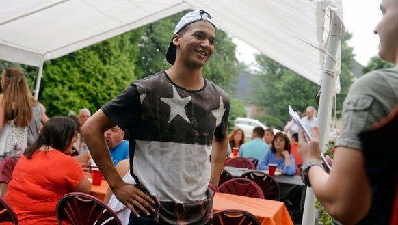 Northeastern's Marcus Josey, who is battling Leukemia,
