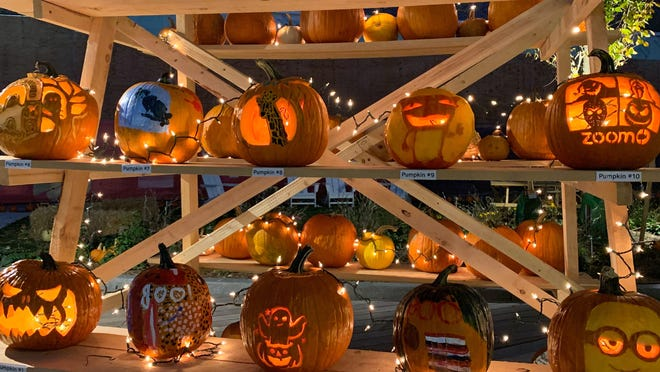 Arsenal Yards in Watertown hosted a socially distant pumpkin carving contest as one of its first Fall Falladays events.