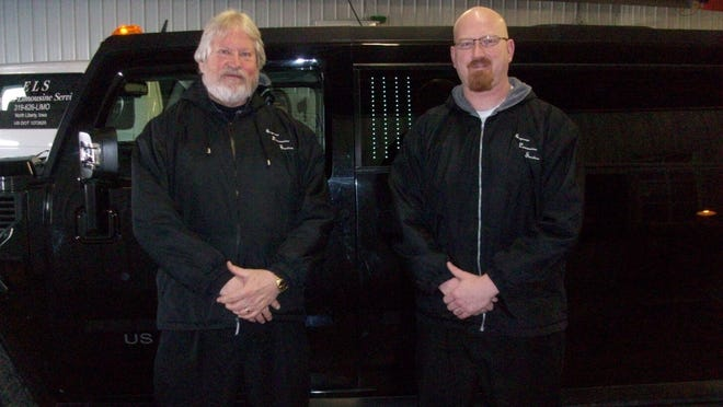 Mart and Erin Hutt of Express Limousine Service and Black Diamond Limousine in North Liberty. The family owned and operated business celebrated 30 years on Feb. 14.