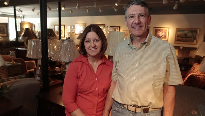 Rita and Randy Ringner at Ringner's Furniture in Pearl River. After 63 years in business, the store is closing down so that Randy Ringner can go in the ministry.