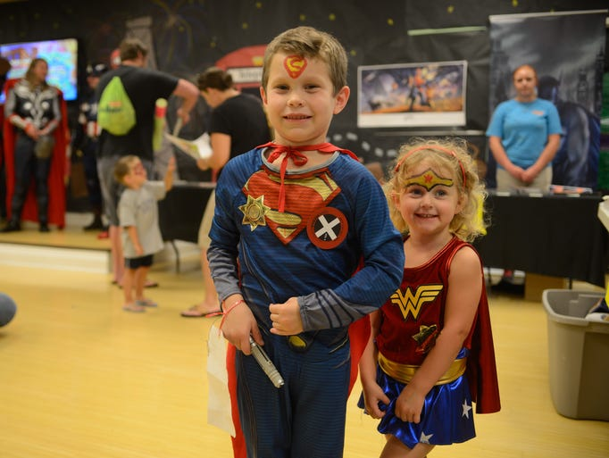 Colton and Ella Gibson save the day during Superhero