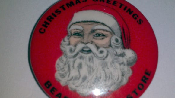 The Bon-Ton wasn't alone in the holiday pin business downtown. Roger Fuller of Yoe shared this Christmas pin from Bear's Department Store, which he got at an estate sale. 'I never knew that Bear's gave out Santa pins until i saw this one at the sale,' he noted.